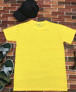 áo thun nam, nữ màu vàng