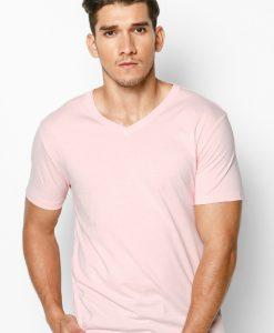 áo thun nam 100% cotton màu hồng phấn
