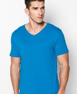 áo thun trơn xanh dương 100% cotton