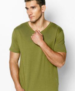 áo thun 100% cotton màu xanh rêu