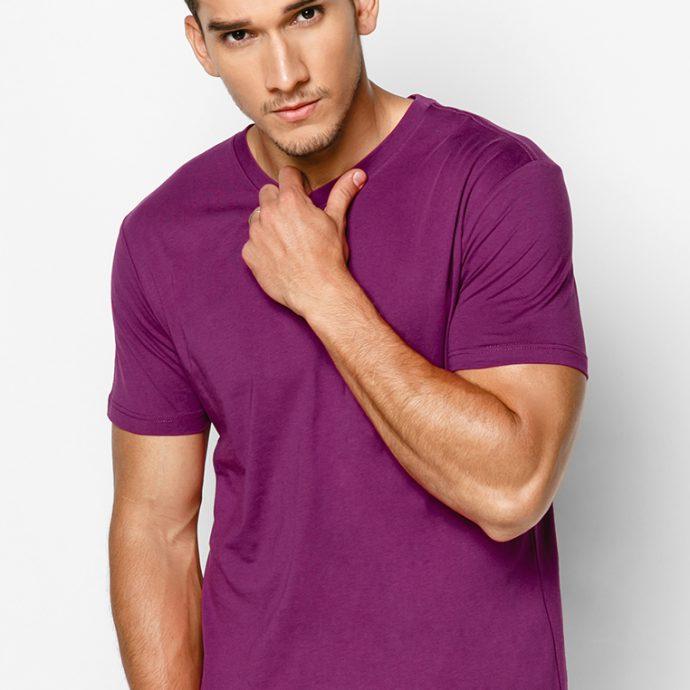 áo nam màu tím 100% cotton
