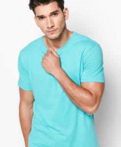 t-shirt 100% cotton xanh thiên thanh