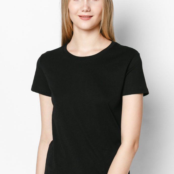 áo thun đen 100% cotton nữ