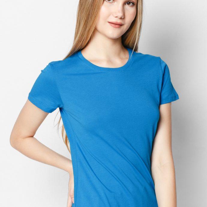 áo thu cotton 100% màu xanh dương girl
