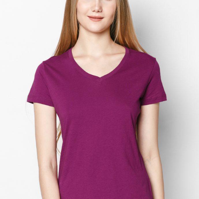 t-shirt màu tím