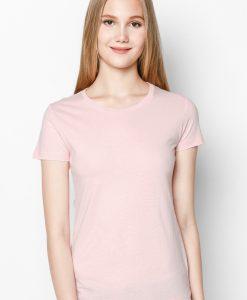 áo thun nữ 100% cotton màu hồng phấn