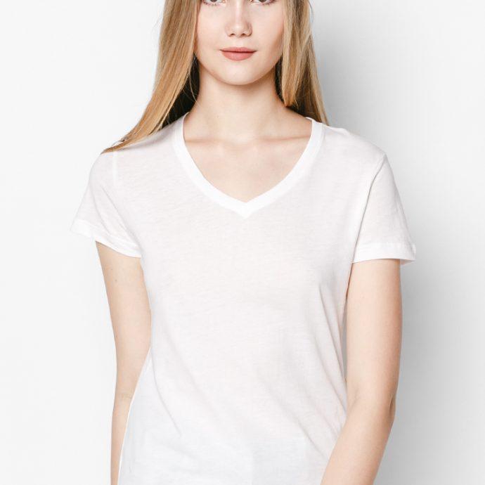 áo thun nữ màu trắng 100% cotton