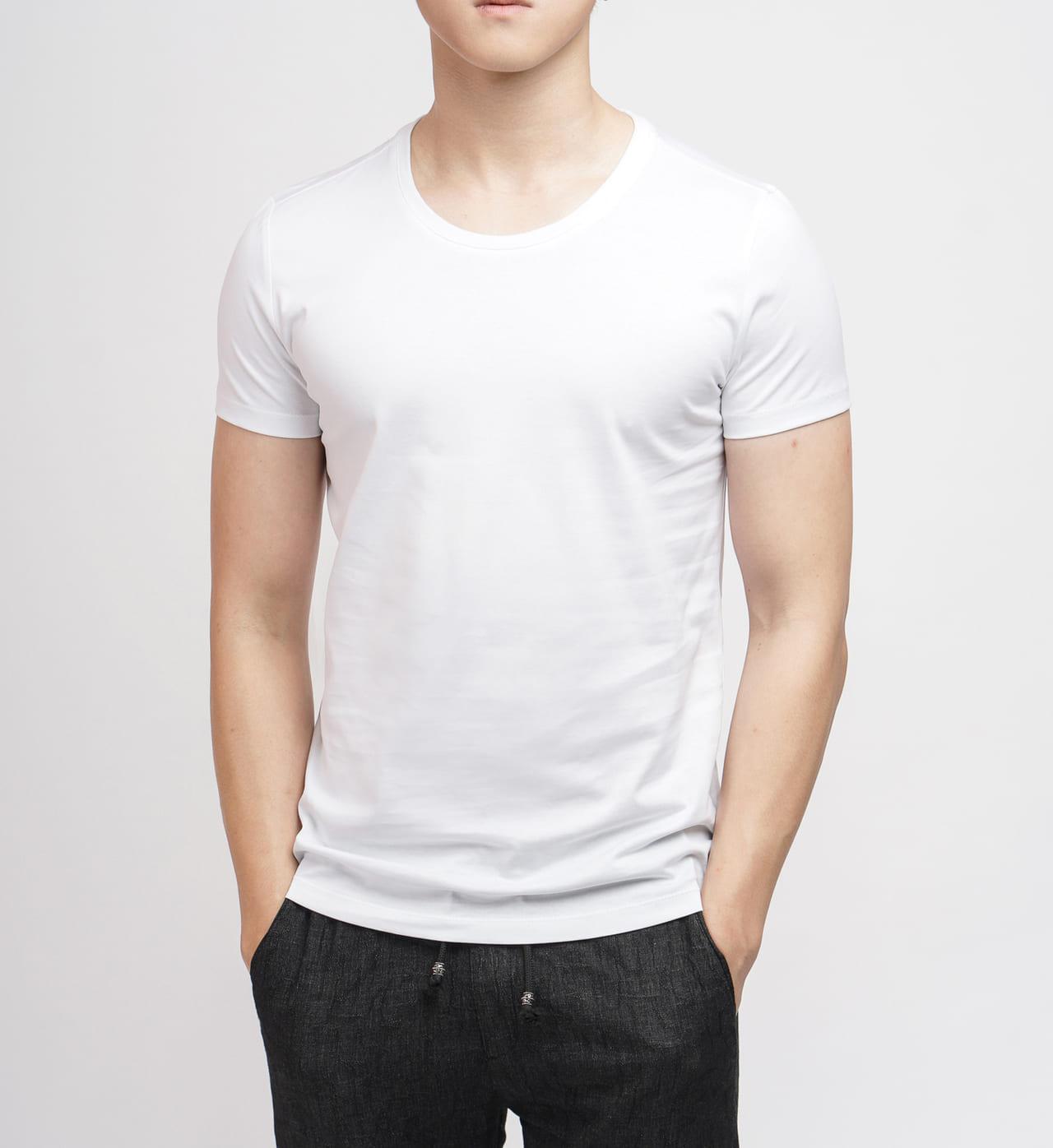 Áo phông nam trơn trắng
