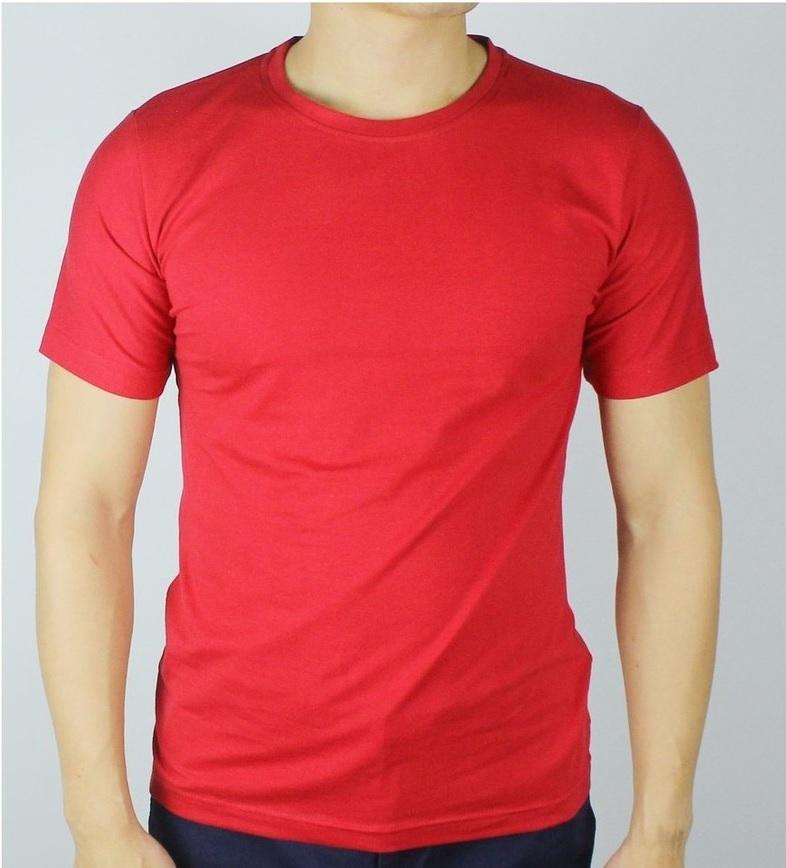 Áo thun trơn nam màu đỏ