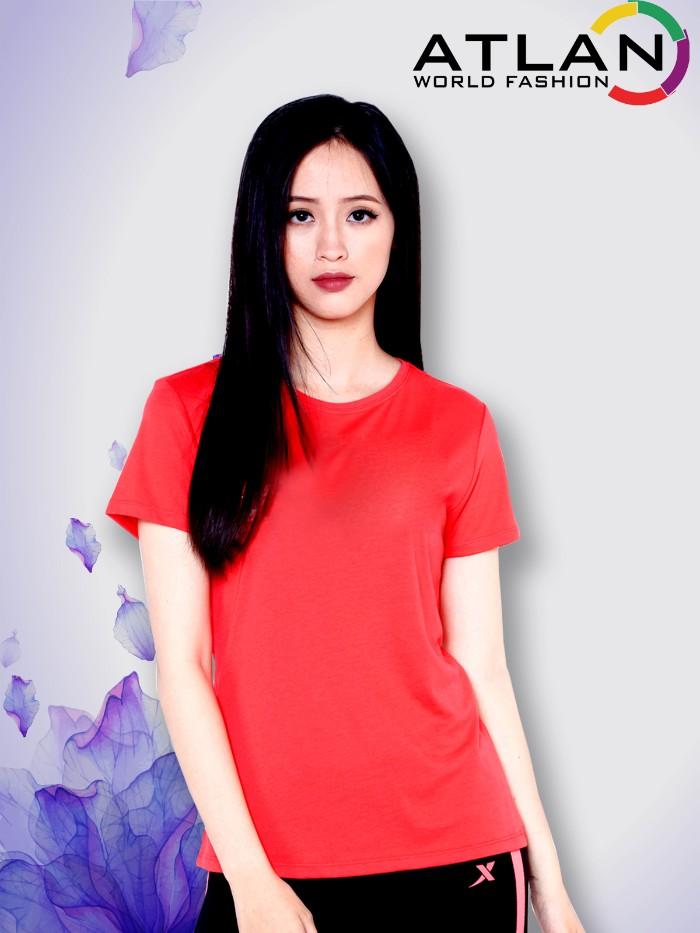 Áo thun trơn nữ màu đỏ