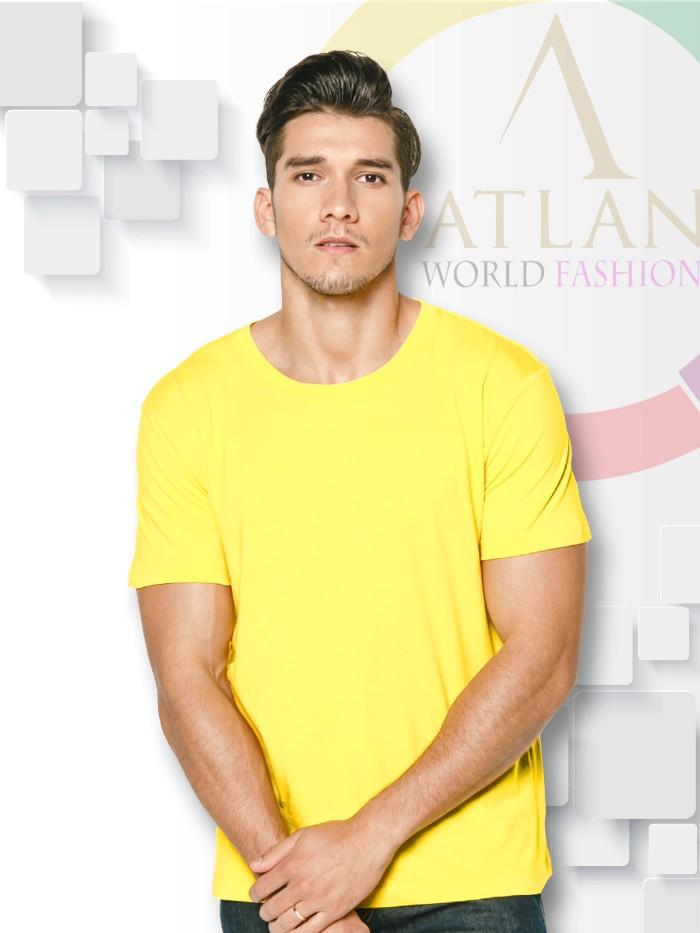 Áo trun trơn nam màu vàng