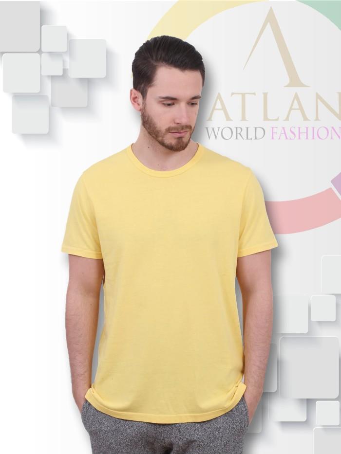 Áo trun trơn nam màu vàng nhạt