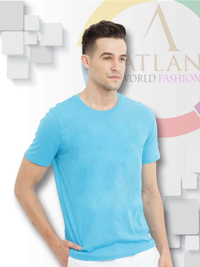 Áo trun trơn nam màu xanh lam