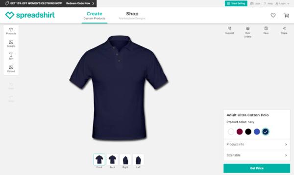 Áo thun thiết kế bằng Spreadshirt