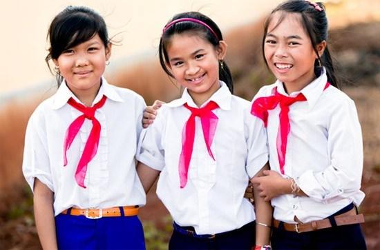 Đồng phục học sinh ở nông thôn