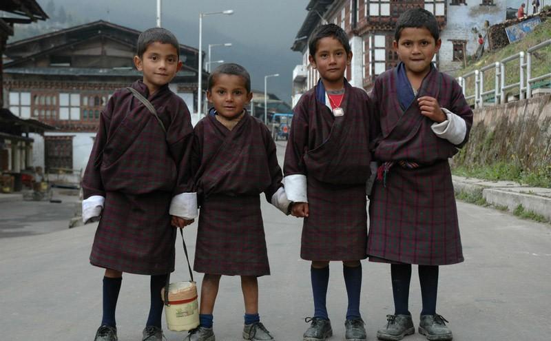 Học sinh Bhutan