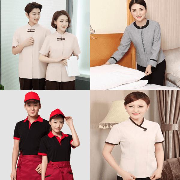 Mẫu đồng phục đẹp nhà hàng khách sạn