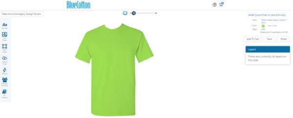 Phần mềm Bluecotton thiết kế áo thun