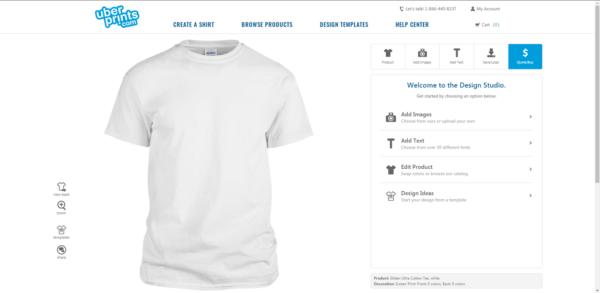 Phần mềm thiết kế áo đồng phục Uberprints