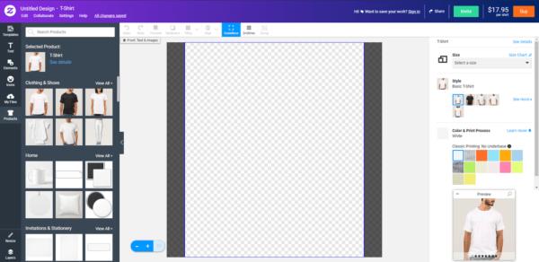 Phần mềm thiết kế Zazzle
