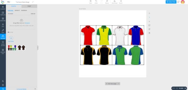 Thiết kế áo online bằng Designbold