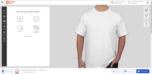 Thiết kế áo thun phần mềm Customink