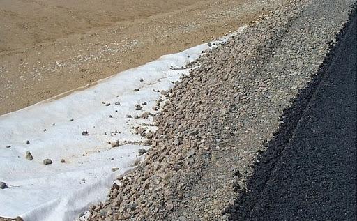 Vải địa kỹ thuật làm đường