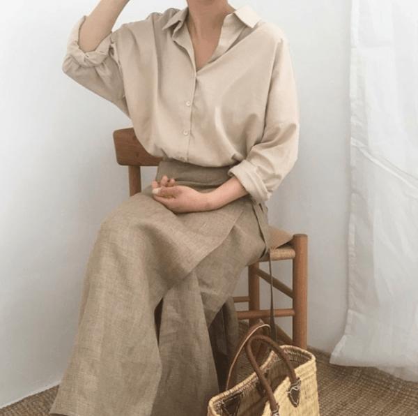 Vải thô đũi may váy