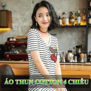 Áo vải cotton 4 chiều