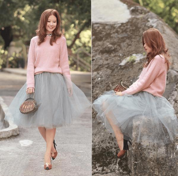 Kết hợp hồng và màu xám