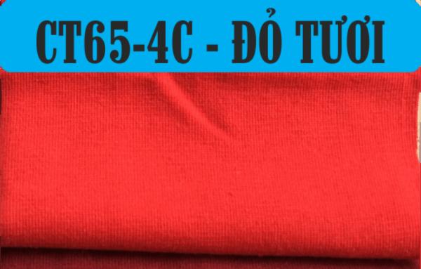 Vải CVC màu đỏ tươi