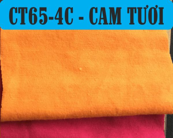 Vải CVC màu cam tươi