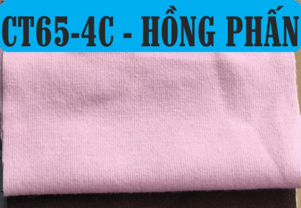 Vải CVC màu hồng phấn