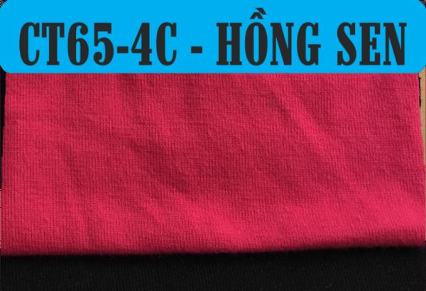 Vải CVC màu hồng sen