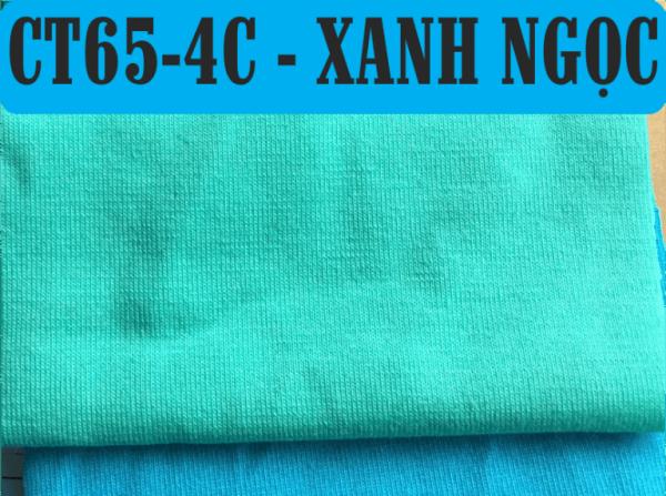 Vải CVC màu xanh ngọc