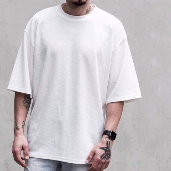 Áo thun Ovesize màu trắng
