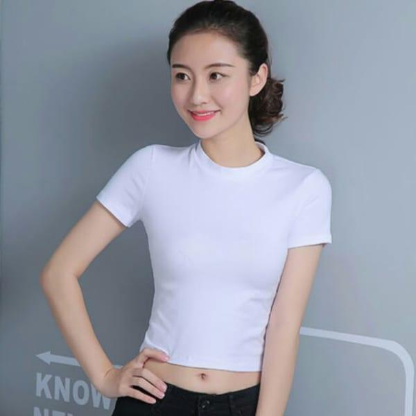 Áo thun trắng trơn form Slim