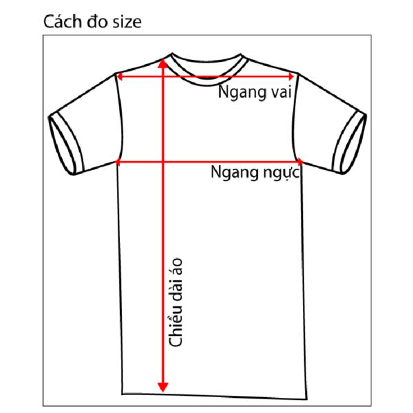 Cánh tính bảng size áo chuẩn